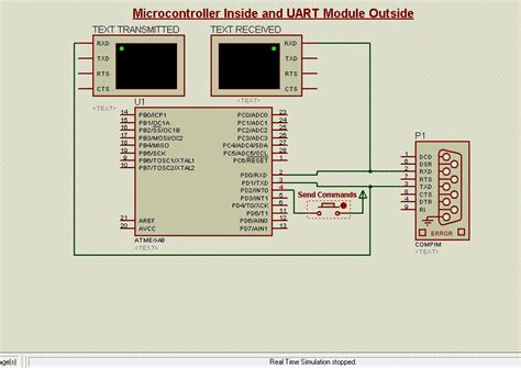 Kr08056 Recording Module With Uart Interface Ports In Proteus Interface Uart Gsm Module