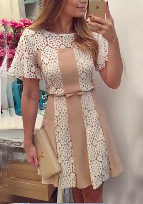 Grosir Baju Tutu Mini Dress apricot lace pleated bow tutu high waisted sweet mini dress mini dresses dresses