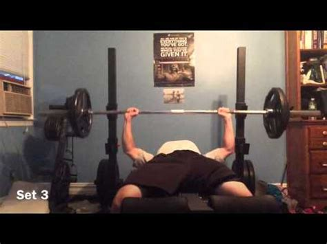 bench press cycle bench press volume training cycle 3 weeks 1 3 youtube