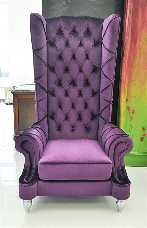 Highback Chairs by Baroque High Back Chair Purple Chair