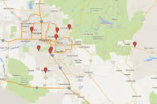 arizona casino map map of all the casinos in the area