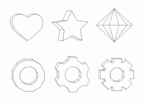 3d shape templates 3d shapes clip