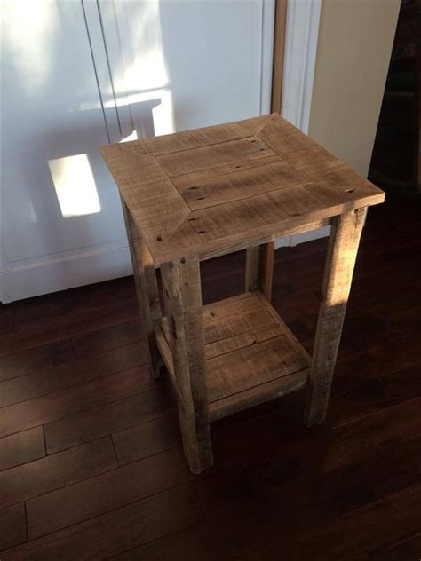 pallet end table diy pallet wood end table and nightstand pallet furniture diy