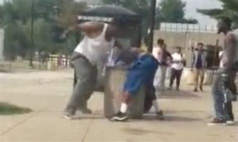atlanta garbage man thrown in jail after getting to work man gets put in a garbage can during a fight video