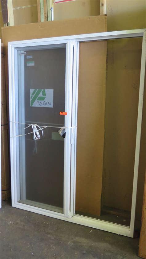 ply gem patio sliding glass doors w screen 60 quot x 80