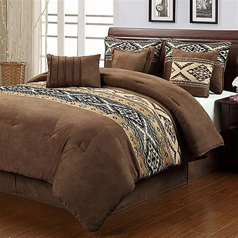 santa fe bedding buy santa fe 7 piece queen comforter set from bed bath