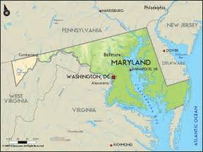 usa map maryland state geographical map of maryland and maryland geographical maps