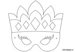 princess mask template coloring page