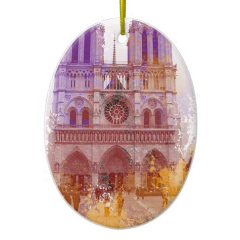 notre dame de paris ceramic ornament zazzle