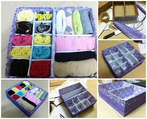 diy storage box ideas diy easy cardboard drawer divider storage box