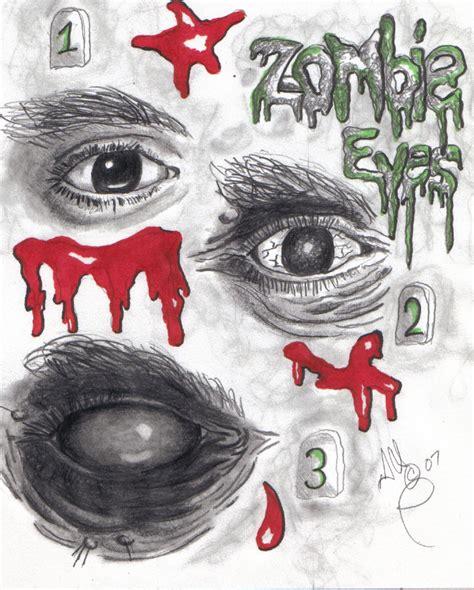 zombie eye tutorial those zombie eyes by twistedmentality on deviantart