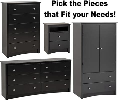 black bedroom furniture armoire dresser drawer nightstand chest dressers sets ebay