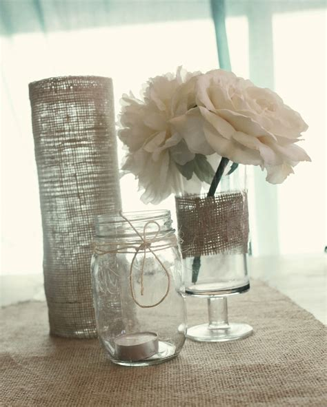 Simple Centerpieces To Make Simple Wedding Reception Centerpieces Burlap