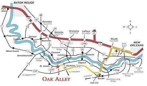 louisiana map distances map directions oak alley plantation