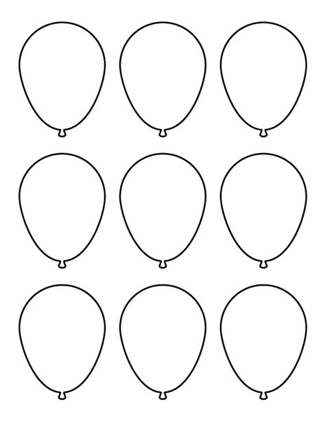balloon template pin by muse printables on printable patterns at