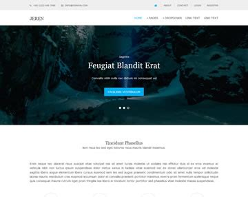 homepage template free jeren website template free website templates os templates