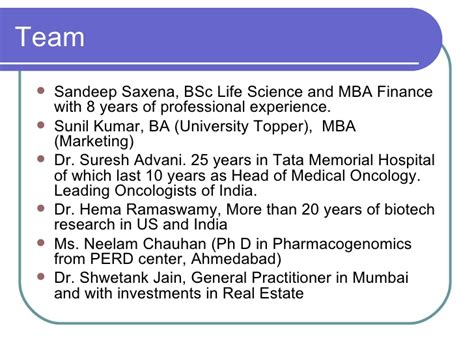 Low Cost Mba In India by Business Plan Pharmacogenomics
