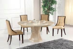 Marcello marble large round dining table with 6 chairs blue ocean