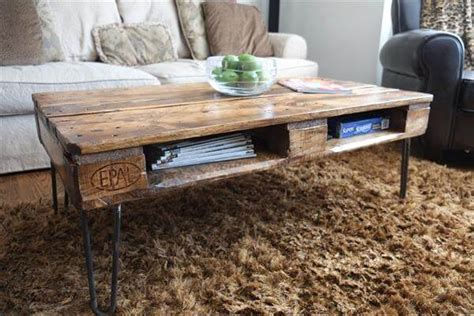 diy wood coffee table legs diy pallet skid coffee table with metal legs pallet furniture diy