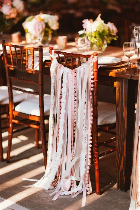 diy wedding ceremony chair decorations diy sewn ribbon chair decorations studio finch photography http knot ly 6496btlhg