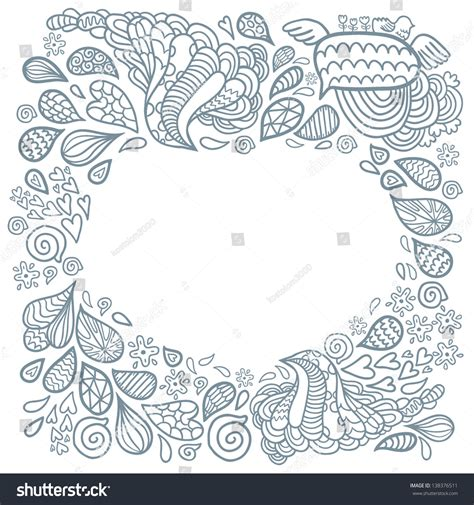 background design doodle cute cartoon doodle frame doodle background stock vector