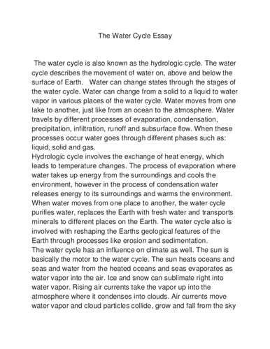 research paper on water water cycle research paper water cycle research paper