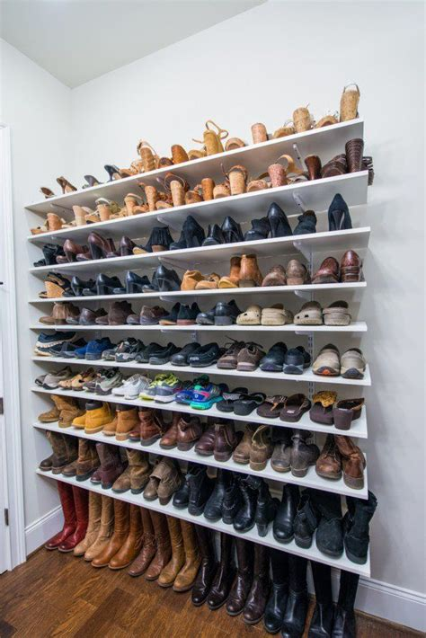 Shoe Rack For Closet Wall by 25 Best Ideas About Shoe Wall On Diy Shoe