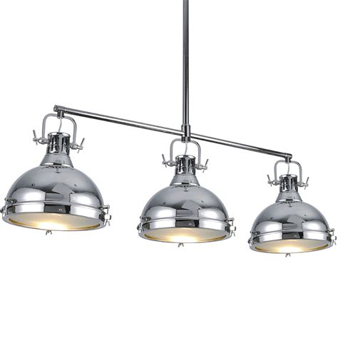 three light pendant bromi b km031 3 cr essex 3 light island pendant in chrome