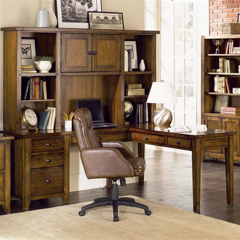 aspen home cross country desk aspenhome cross country l shaped desk hutch hudson s