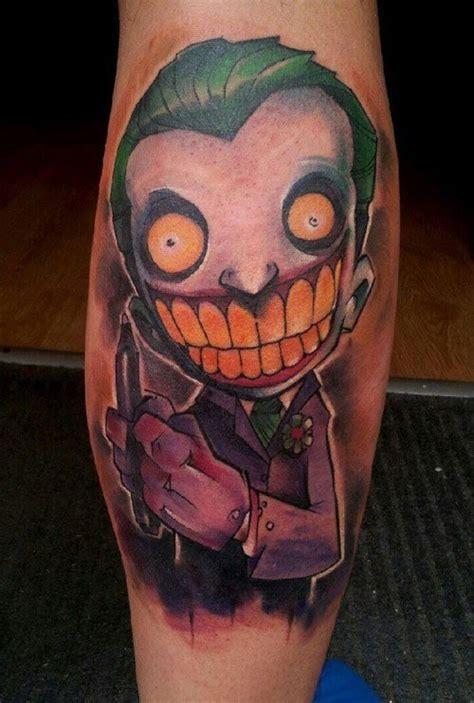 joker tattoo on calf 22 nice joker tattoos on leg