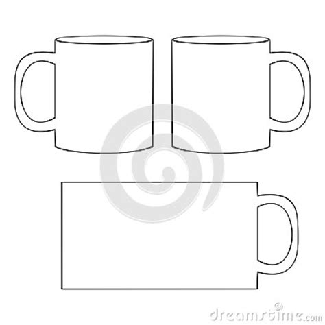Coffee Mug Template Blank Cup Stock Vector Image 41067041 Coffee Mug Template