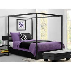 Walmart Canopy Furniture by Modern Canopy Queen Metal Bed Multiple Colors Walmart Com