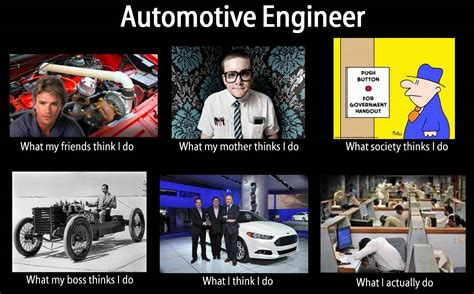 does my i what my friends think i do what i actually do automotive engineer what my