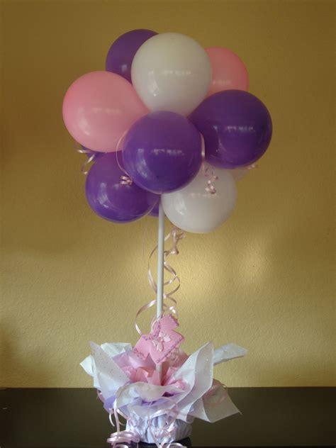 Balloon table centerpiece balloon decor pinterest