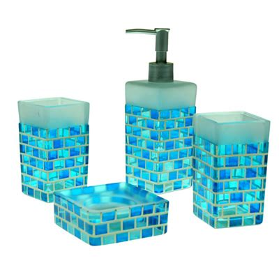 an overview of blue bathroom accessories bath decors