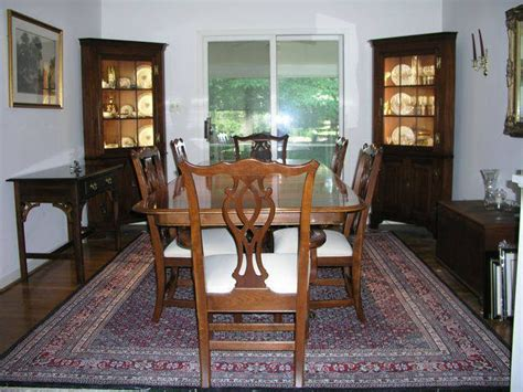 cherry dining room table and chairs by knob creek for sale