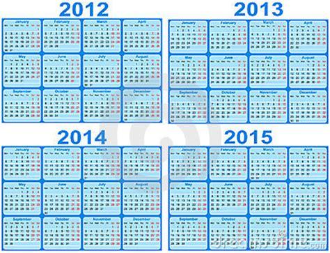 calendar for year 2011, 2012, 2013, 2014, 2015 royalty