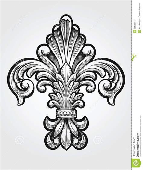 elegant fleur de lis stock vector image of drawing