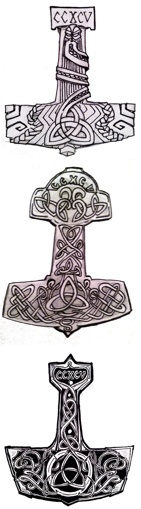 thor hammer tattoo designs thor s hammer design by doodlesanddaydreams on