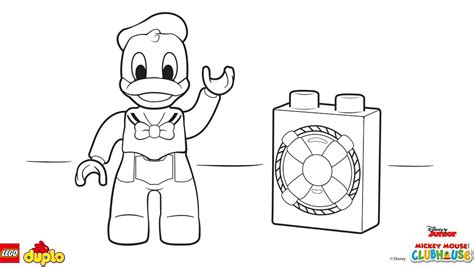 lego 174 duplo 174 donald duck coloring page coloring page
