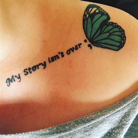 simple quote collarbone tattoo entertainmentmesh