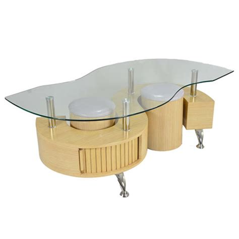lucca contemporary glass coffee table in oak buy coffee