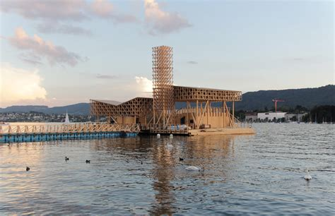 pavillon of reflections a floating pavilion puts bathing at the of manifesta