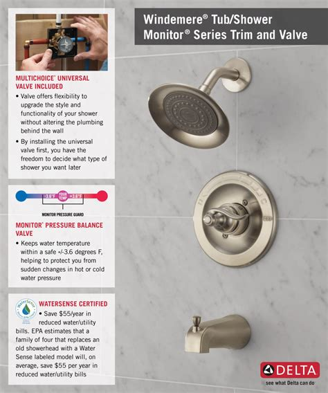 Delta Single Handle Shower Faucet Temperature Setting by Delta Windemere Single Handle 1 Spray Tub And Shower