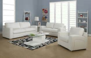 White Leather Living Room Furniture White Living Room Furniture Sets
