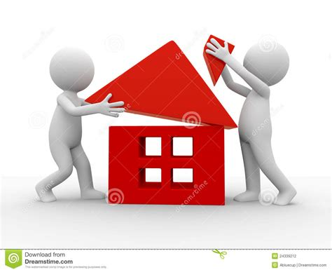 Make House | build a house stock photography image 24339212