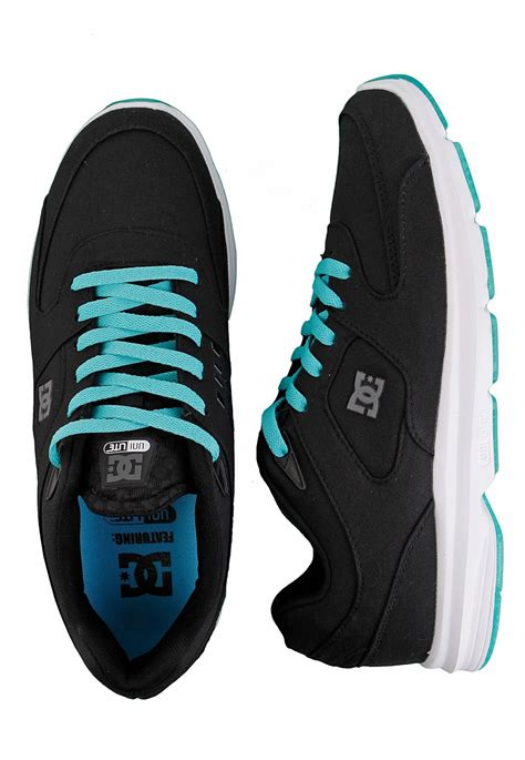 dc boost tx black white turquoise shoes impericon