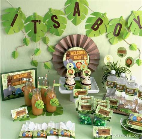 jungle theme baby shower decorations ideas 25 best ideas about jungle baby showers on