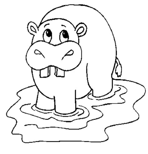free coloring pages hippo cute hippo coloring pages to kids