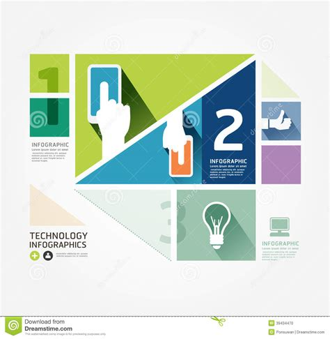 web layout vector modern design minimal style info graphic template stock